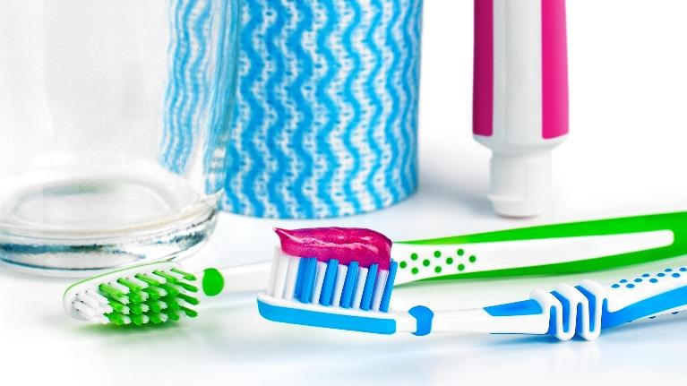 Toothbrush and Fluoride Toothpaste